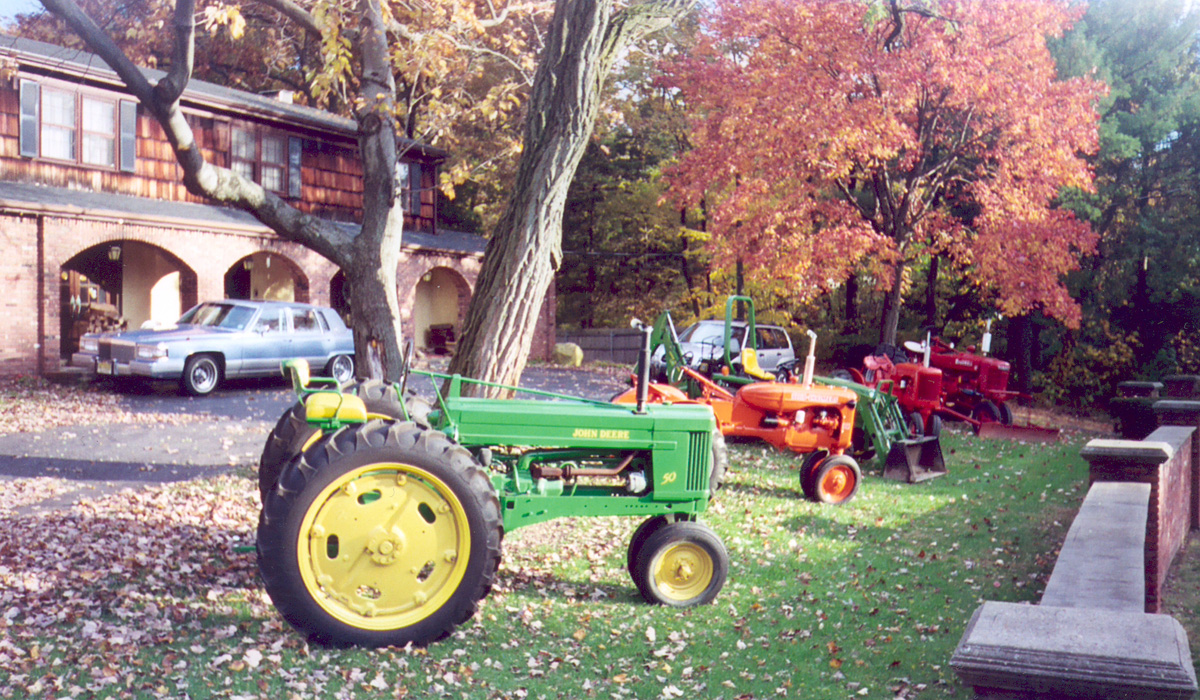 Tractors on display for Halloween